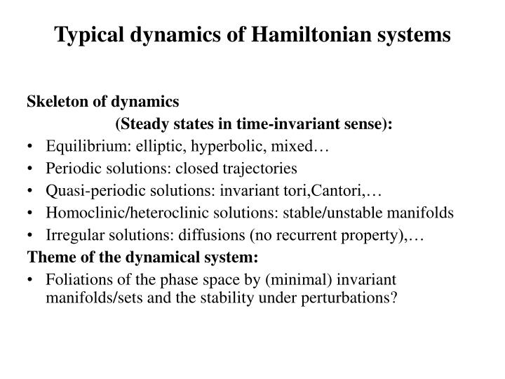 Typical dynamics of Hamiltonian systems