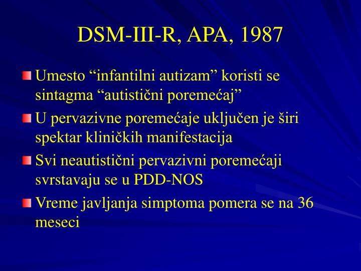 DSM-III-R, APA, 1987