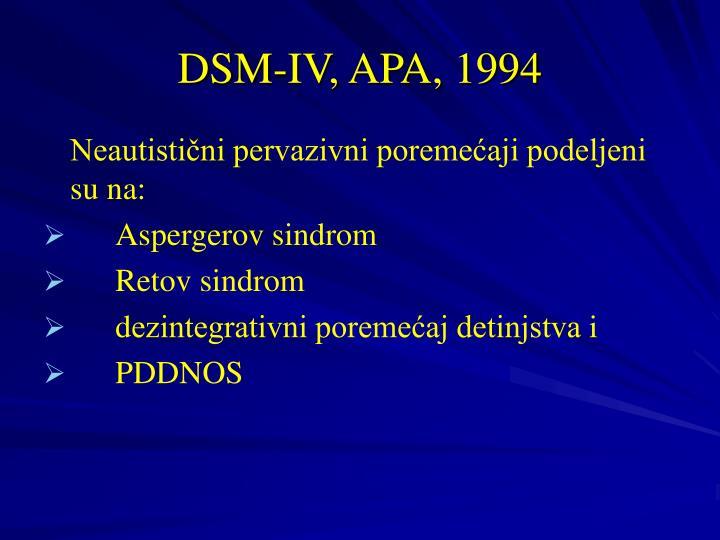 DSM-IV, APA, 1994