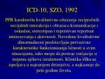 icd 10 szo 1992