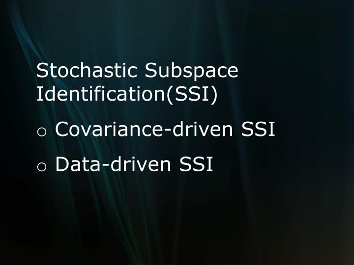 Stochastic Subspace