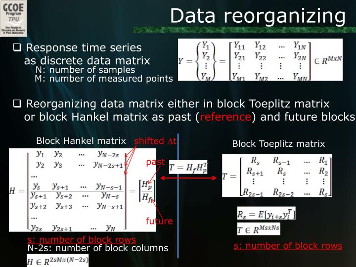 Data reorganizing