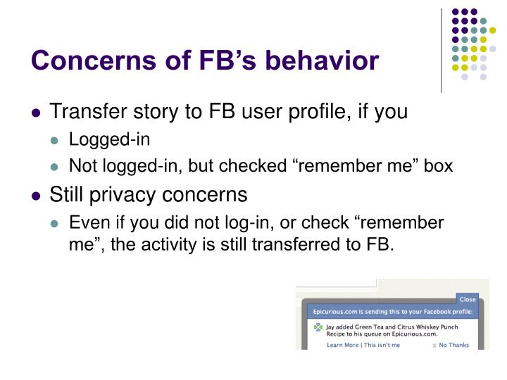 Concerns of FB's behavior