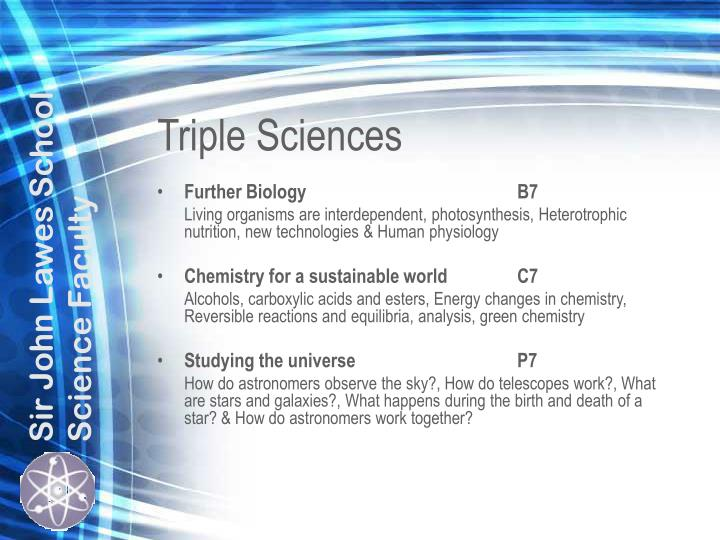 Triple Sciences
