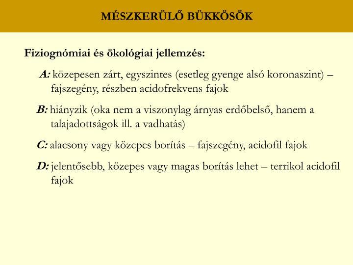MÉSZKERÜLŐ BÜKKÖSÖK