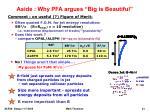 aside why pfa argues big is beautiful