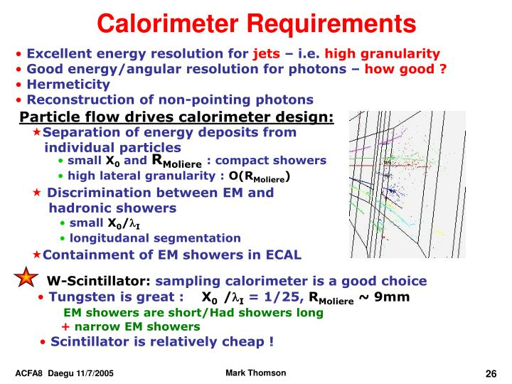 Particle flow drives calorimeter design: