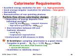 calorimeter requirements