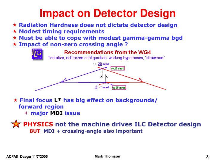 Impact on Detector Design