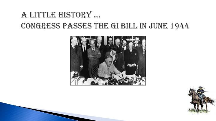 A little history congress passes the gi bill in june 1944