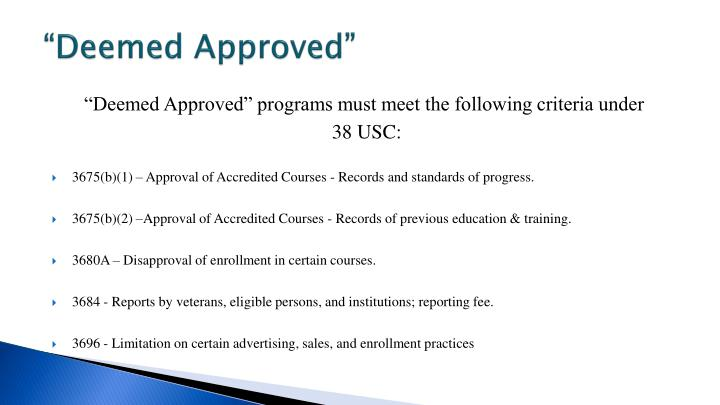 """Deemed Approved"""