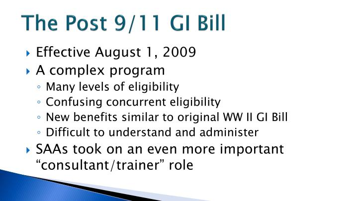 The Post 9/11 GI Bill