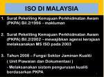 iso di malaysia
