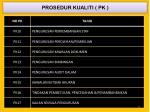 prosedur kualiti pk1