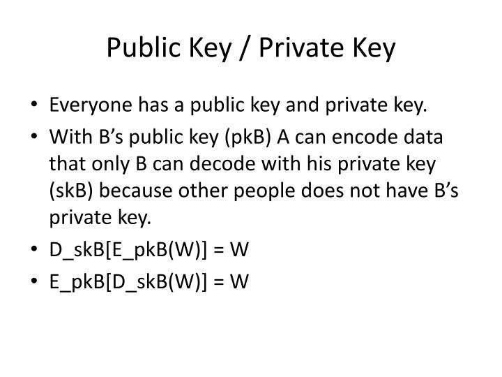 Public Key / Private Key