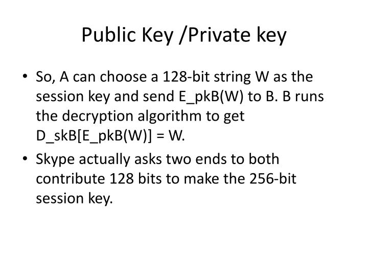 Public Key /Private key