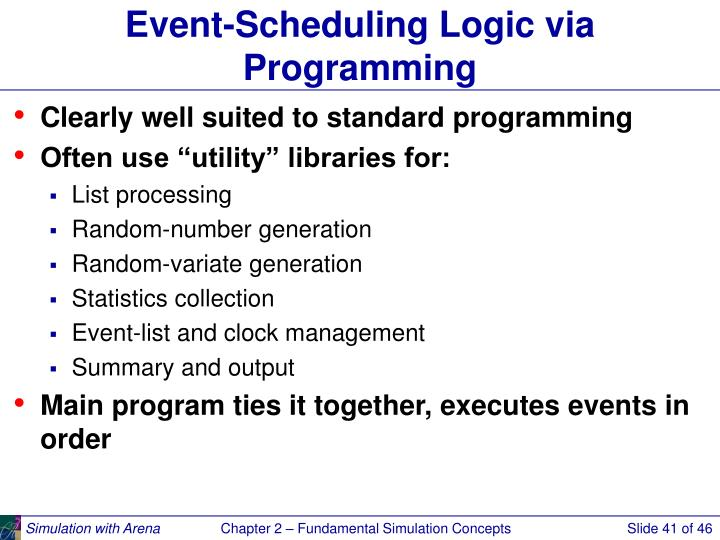 Event-Scheduling Logic via Programming