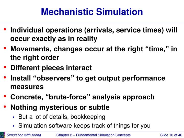 Mechanistic Simulation