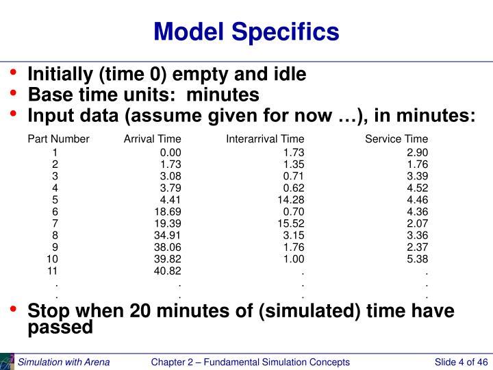 Model Specifics