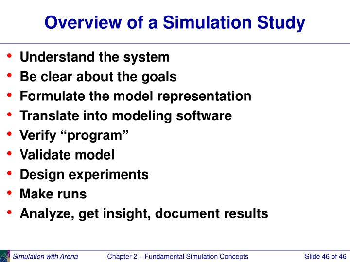 Overview of a Simulation Study
