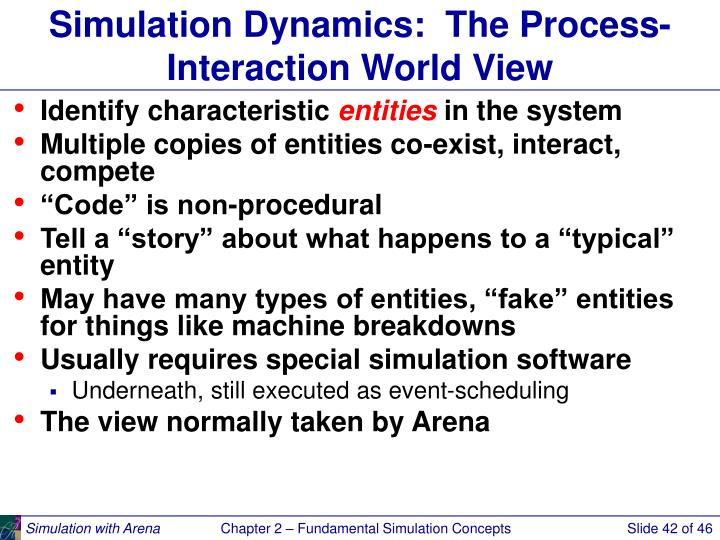 Simulation Dynamics:  The Process-Interaction World View