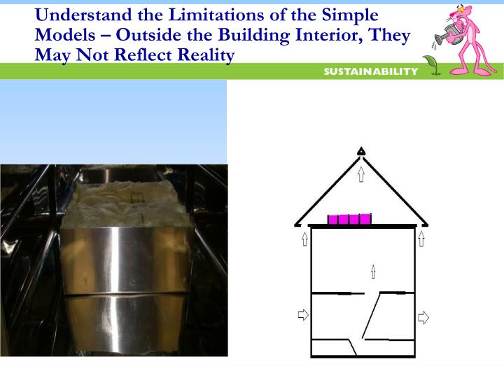Understand the Limitations of the Simple Models – Outside the Building Interior, They May Not Reflect Reality