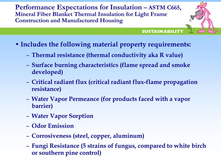 Performance Expectations for Insulation