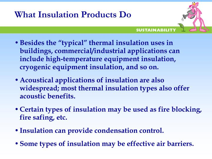 What Insulation Products Do