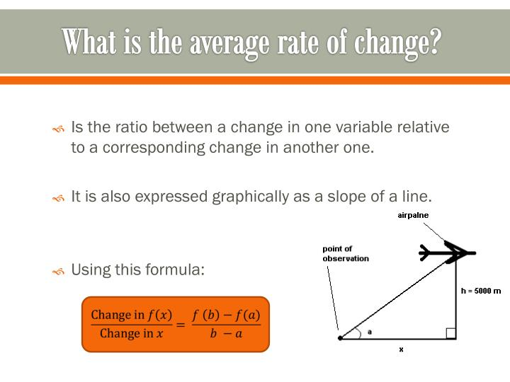What is the average rate of change