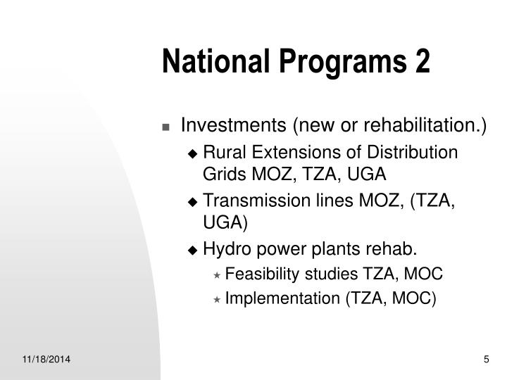 National Programs 2