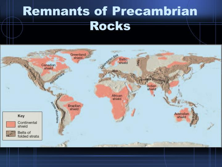 Remnants of Precambrian Rocks