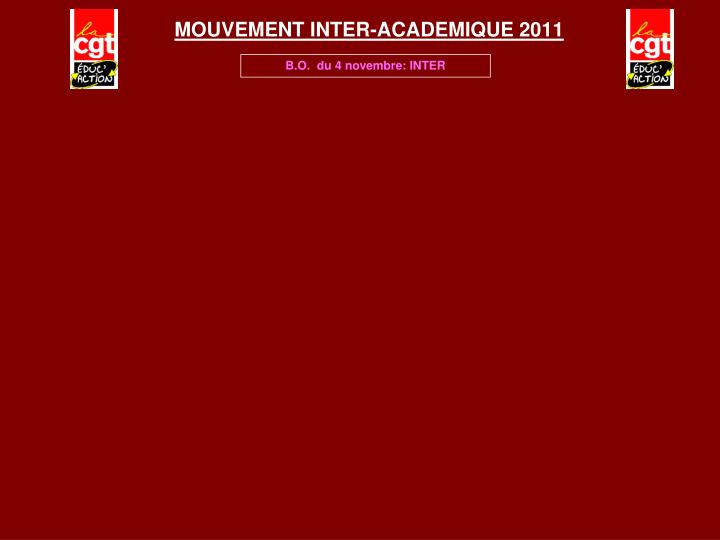 Mouvement inter academique 2011