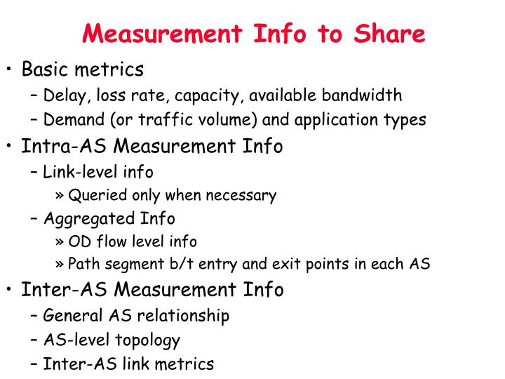 Measurement Info to Share