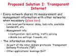 proposed solution i transparent internet