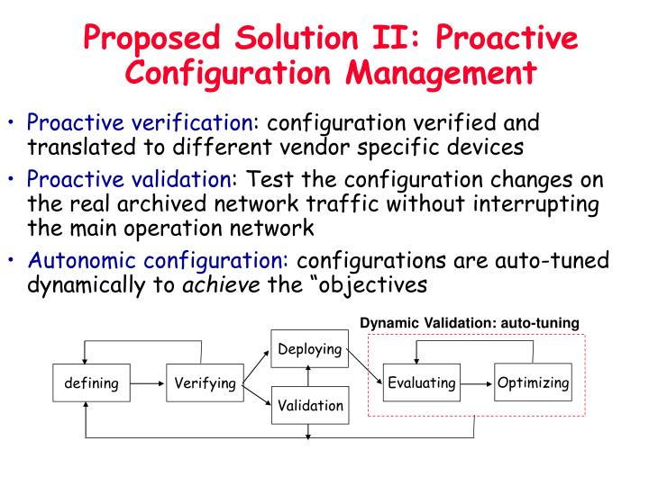 Proposed Solution II: Proactive Configuration Management