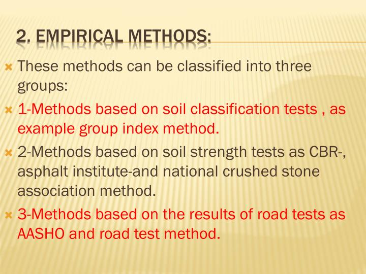 These methods can be classified into three groups: