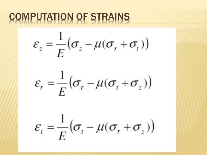 Computation of Strains