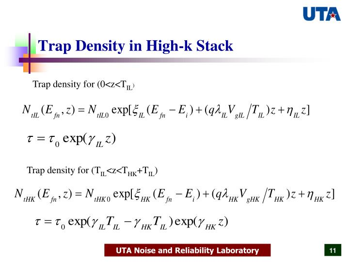 Trap Density in High-k Stack