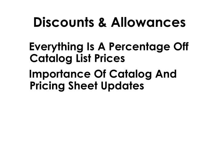 Discounts & Allowances