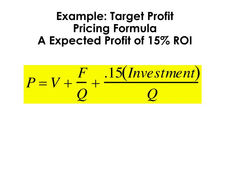 Example: Target Profit