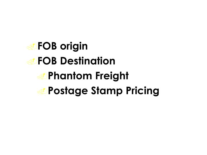 Shipping Costs