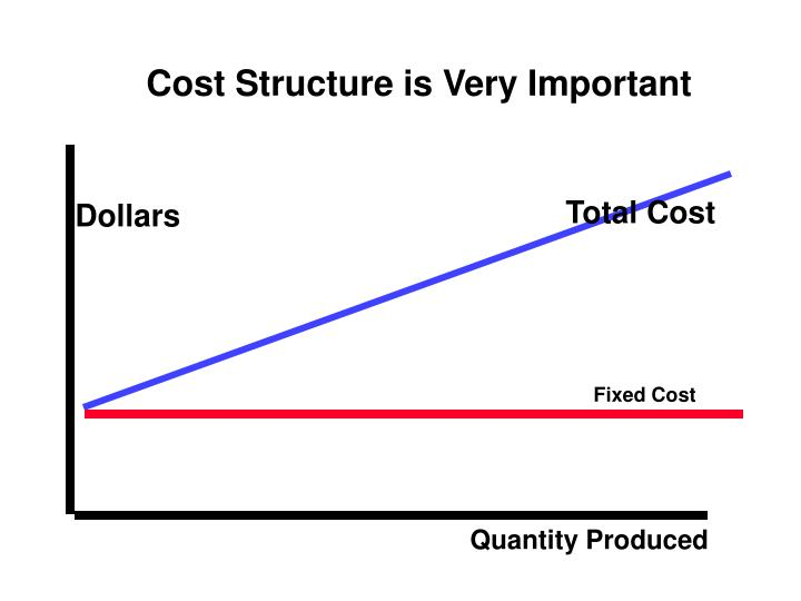 Cost Structure is Very Important