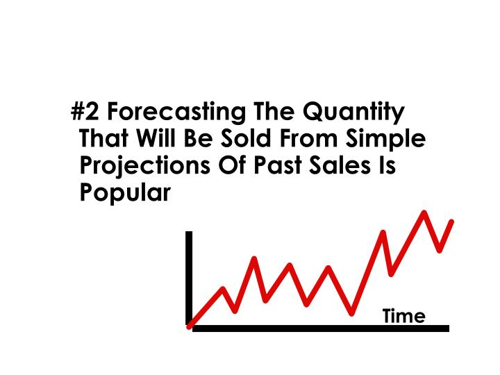 #2 Forecasting The Quantity That Will Be Sold From Simple Projections Of Past Sales Is Popular