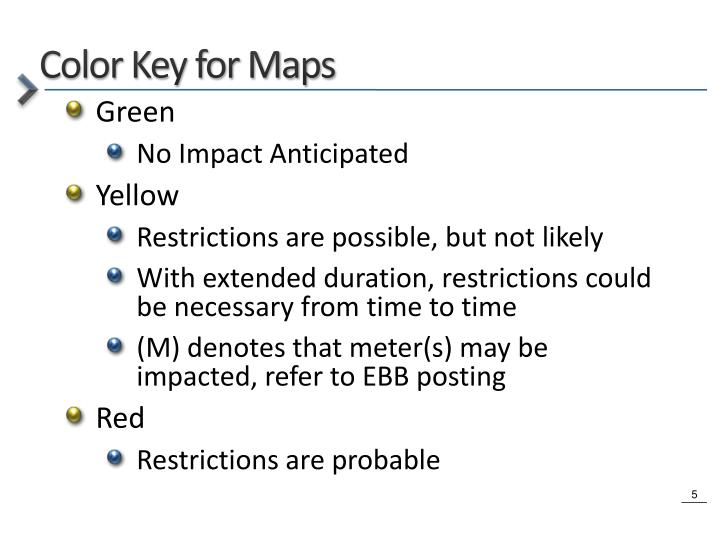Color Key for Maps
