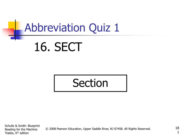 Abbreviation Quiz 1
