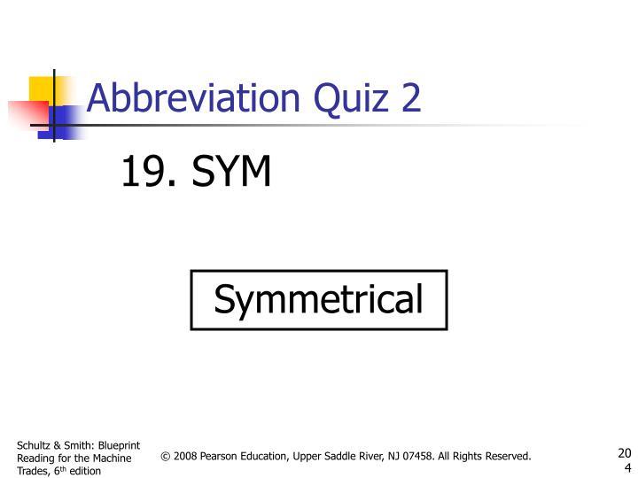 Abbreviation Quiz 2