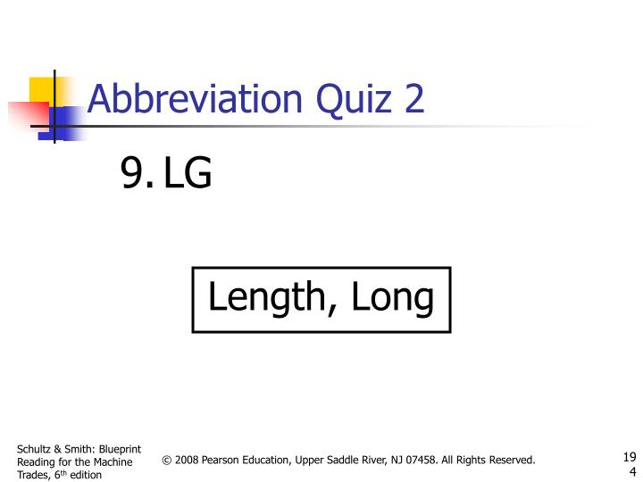 Abbreviation Quiz 2