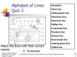 alphabet of lines quiz 31