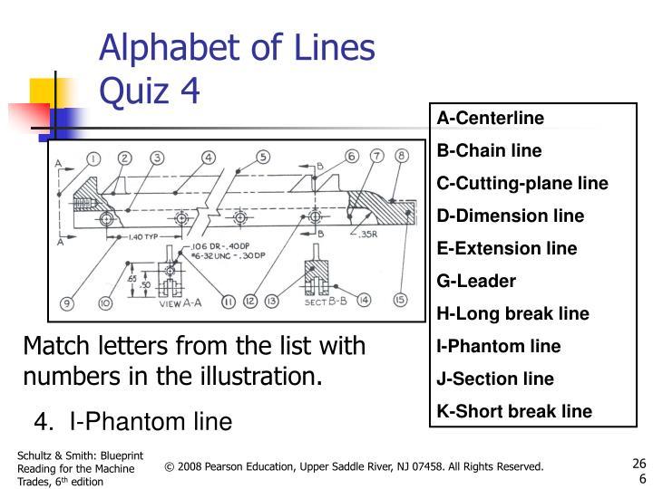 Alphabet of Lines Quiz 4