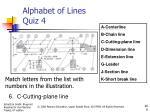 alphabet of lines quiz 45